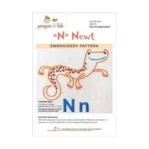 Penguin and Fish Embroidery Patterns Newt; 3 Items/Order