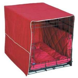 Front Door Dog Crate Cover   Extra Large / Burgundy