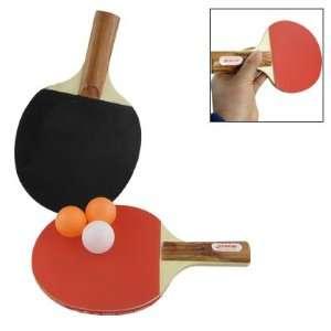 Tennis Bat Racket w 3 Ping Pong Balls