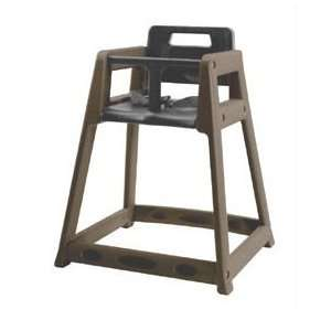 Commercial Quality Plastic High Chair   Brown Finish