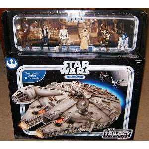com Star Wars Millennium Falcon Electronic Playset with 6 Crew Action