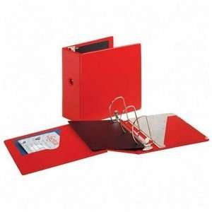 Ring Binder With Finger Hole, 5 Capacity, Red CRD11952