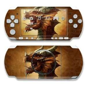 Red Dragon Design Decorative Protector Skin Decal Sticker for Sony PSP
