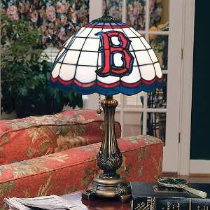 Boston Red Sox Stained Glass Tiffany Table Lamp Sports