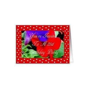 To A 21st Birthday floral Red And White Polka Dots Card: Toys & Games