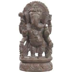 Lord Ganesha (Ganesh) Hindu Gods Stone Statues 6 x 3 inches: