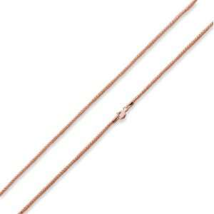 Rose Gold Plated Sterling Silver 16 Popcorn Chain Necklace 1.6MM