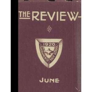 (Reprint) Jun 1920 Yearbook Sacramento High School, Sacramento