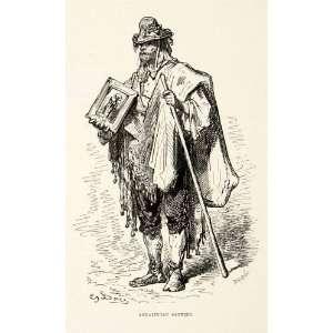 1876 Print Andalusia Spain Santero Santeria Costume