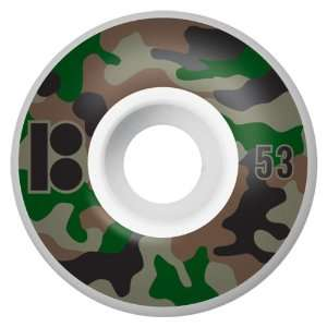 Plan B Camo Series 53MM Skateboard Wheels (Set of 4