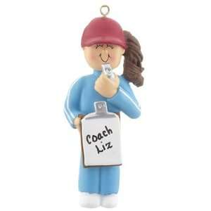 Personalized Coach   Female Christmas Ornament