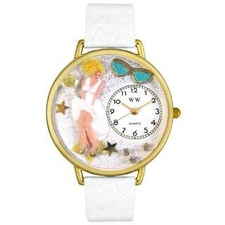 Marilyn Monroe White Leather Watch Whimsical Watches Watches