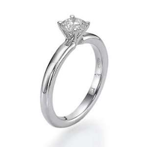Vs.50ct Round Diamond Solitaire Engagement Ring 14k Gold