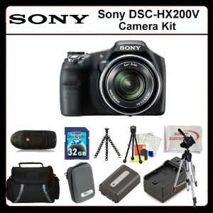 Camera Includes Sony DSCHX200V, Extended Life Replacement Battery