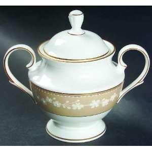 Gold Trim Sugar Bowl & Lid, Fine China Dinnerware