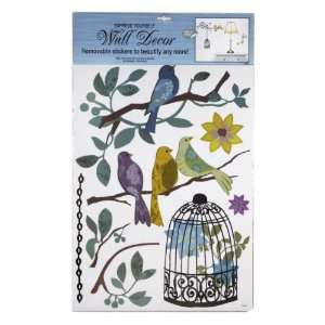 Wall Decor   Removable Stickers   Floral Birds/cage