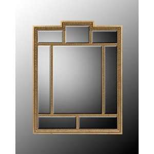 Hand Carved Hand Finished Wood Frame with Bevel Mirror