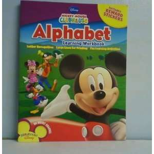 Mickey Mouse Clubhouse Workbooks w/Stickers   The Alphabet