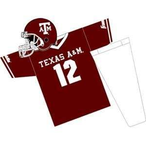 Texas AandM Aggies Youth NCAA Team Helmet and Uniform Set