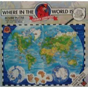 Where in the World Is Carmen Sandiego? 300 Piece Jigsaw Puzzle & Crime
