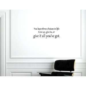 give it all youve got.   Vinyl wall decals quotes sayings home decor