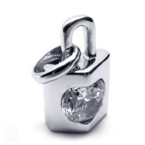 Heart & Lock Silver Plated 925 Necklace Pendant