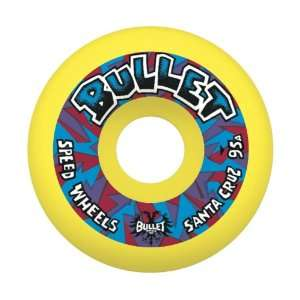 Bullet Wheels Mini Church Glass Retro 95a Wheels, 54mm, Yellow: