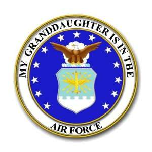 US Air Force Pride My Granddaughter is in the Air Force Decal Sticker