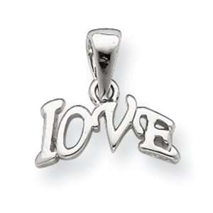 Sterling Silver Polished Love Charm Jewelry