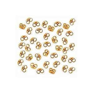 22K Gold Plated Earring Backs (Earnuts) Med. (100) Arts