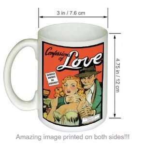 Confessions Of Love Vintage Pulp Novel Cover Art COFFEE