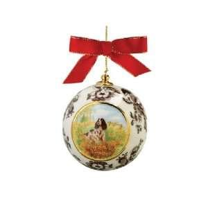 Spode Woodland Hunting Dogs Christmas Ornament Springer