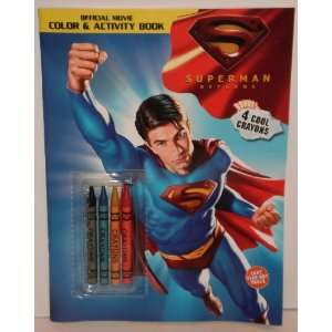 Superman Returns Color & Activity Book with Crayons