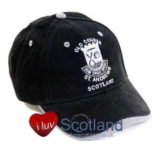 Baseball Cap St Andrews Old Course Ball Marker Black grey
