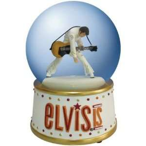 100 mm Elvis Presley Wearing White Suit With Guitar In