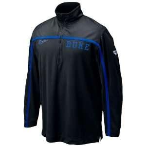 Nike Duke Blue Devils Black Elite Shootaround 1/4 Zip Long