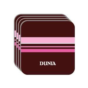Personal Name Gift   DUNIA Set of 4 Mini Mousepad Coasters (pink