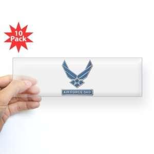 Bumper Sticker Clear (10 Pack) Air Force Dad