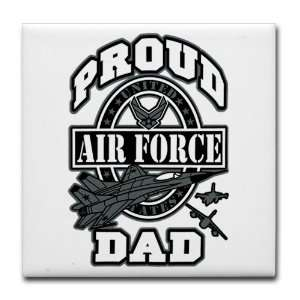 Tile Coaster (Set 4) Proud Air Force Dad Jets Everything Else
