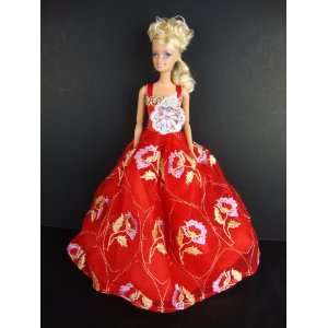 with Bright Flowers on the Lace Made for the Barbie Doll Toys & Games