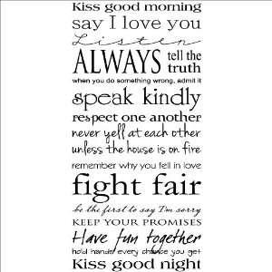 Kiss Me Good MorningKiss Me Good Night wall saying vinyl lettering