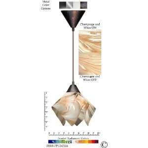 Jezebel Radiance® Flame Pendant Small. Hardware Brown
