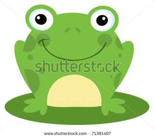 Happy Head Frog Cartoon Character Stock Vector 71381407 : Shutterstock