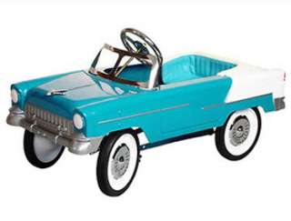 Pedal Car for Kids   s just Like a Sly Blue 55 Chevy Roadster