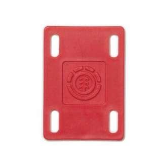 Element Skateboard Riser Pads Red