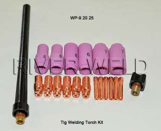 20p Tig Welding Torch Kit collet body Alumina WP9 20 25