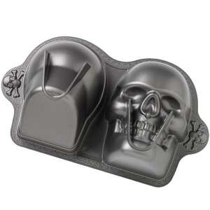 Wilton 3D Cake Decorating Supplies Pan Mold Skull Head