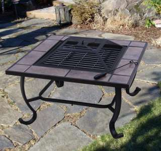 Outdoor patio Metal Fire Pit Stove BBQ Grill Fireplace With Free Cover