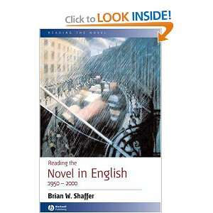 Reading the Novel in English 1950   2000 (9781405101134