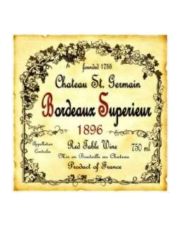 Bordeaux Wine Label Giclee Print at Art
